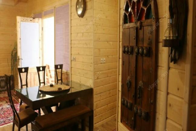 اجاره ویلا چوبی استخر سونا جکوزی در رامسر