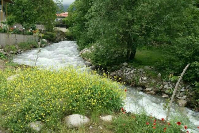 اجاره ویلا لب رودخانه با ویو کوه و جنگل در کلاردشت