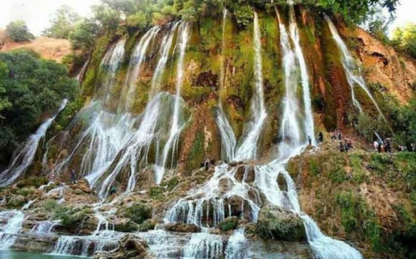 لمس لطیف ترین هوا در کنار آبشار 100 متری سواسره در بلده مازندران