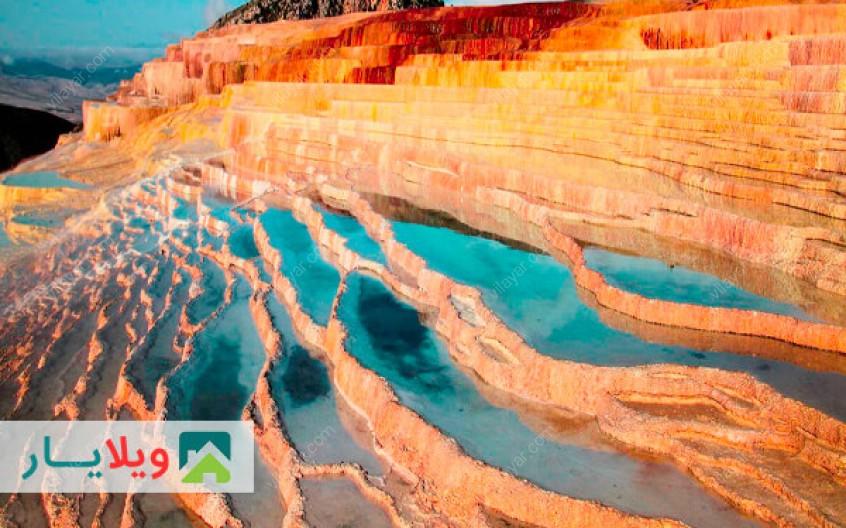 عکس ها و راهنمای دیدار از باداب سورت زیباترین چشمه آب شور