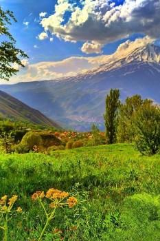 روستای نوا و دشت زیبای آزو در لاریجان آمل