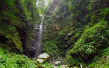 لذت دیدار از آبشار گزو با ارتفاع 75 متر در دل جنگل های بکر
